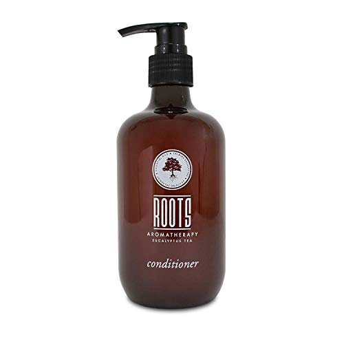 ROOTS AROMATHERAPY Conditioner 12floz/360mL Pump Bottle Travel Size Hotel (Eucalyptus Tea fragrance) Toiletries for Bathroom, Guests, Hotels, Motels, and Lodging