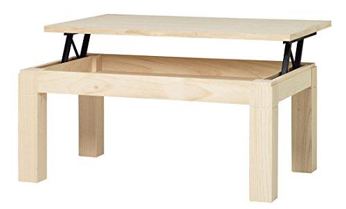 ojemar international Table Basse Moderne relevable 110 x 70 cm. (Pieds Amovibles)