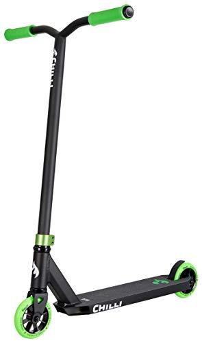 Chilli Pro Scooter Base Neon Green | Erstklassiger grüner Stunt-Scooter für Einsteiger | Robuster Roller, drehbarer Lenker ideal für Tricks geeignet | Leicht & schnell für maximales Fahrvergnügen