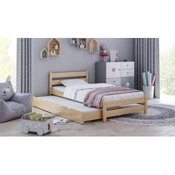 Children's Beds Home - Cama individual con nido - Simba para niños pequeños y adolescentes - Tamaño 200x90, Color Natural, Colchón 10 cm Espuma / Fibra de Coco