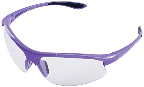 ERB Safety Products 18624 Ella Safety Glasses, Anti Scratch Clear Lens, 9.625' Height, 2' Wide, 4.5' Length, Plastic, One Size, Purple
