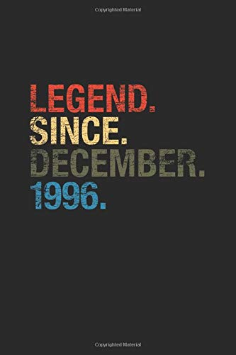 Legend Since December 1996 Small Lined Notebook 23 Years Old Birthday Gift Or 23rd Anniversary Gift Idea
