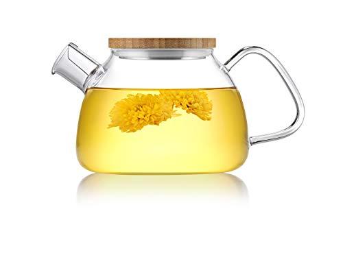 玻璃茶壶30oz, 带不锈钢过滤器