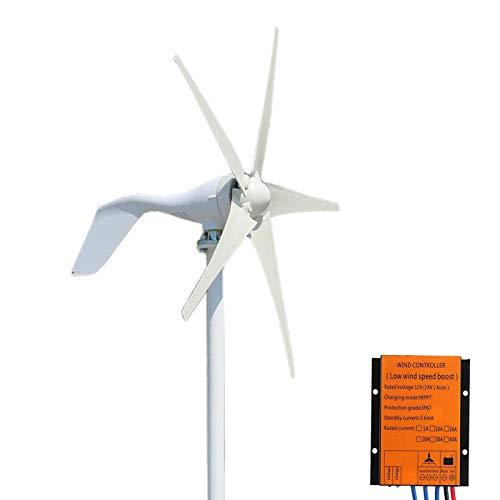 FLTXNY POWER Generador de Turbina de Viento, 400W 12V Turbina de Viento Ajustable con 5 Palas...