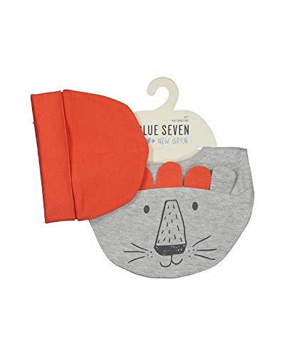 Blue Seven - newborn 2-delige set kindermuts + slab/sjaal