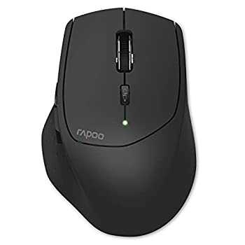 RAPOO Multi-Device Bluetooth Mouse Connect Up to 4 Different Devices 4 Adjustable DPI Ergonomic Design Comfortable Use 12 Month Long Battery Life for Computer Laptop Macbook Tablets Phones Black