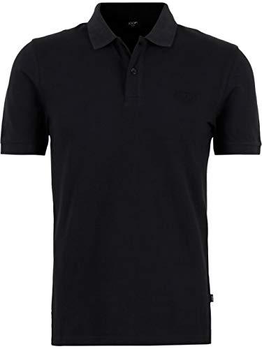 Joop! Herren Kurzarm Poloshirt Regular Fit Beeke Polo Shirt Schwarz Blau Grau 100% Baumwolle M L XL XXL 3XL, Größe:S, Farbe:Schwarz (001)