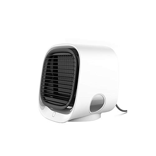 GONGYBZ Mini Ventiladores portátiles, Aire Acondicionado, humidificador multifunción, purificador, Ventilador de Escritorio USB, Enfriador de Aire con Tanque de Agua para el hogar