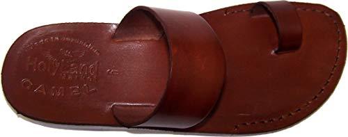 Holy Land Market Unisex Biblical Leather Flip Flops (Jesus - Yashua) - Finger Style - European 39