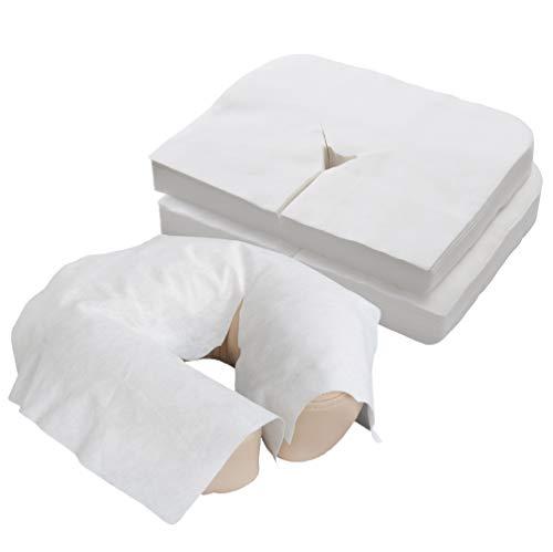 EARTHLITE Massageliegen Nasenschlitztücher – Premium, Ultra Soft, Atmungsaktive, Nicht-klebende Hygieneauflagen für Kopfstützen von Massagestühlen & Massagetischen (100 Stück) mit höchster Bewertung
