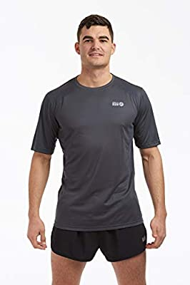 Time To Run Men's Pace Spirit Quick Dry Short Sleeved Technical Running/Gym/Workout T Shirt by time to run