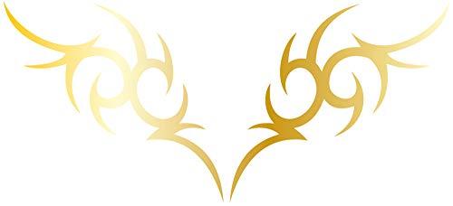DD Dotzler Design 2405_42 Autoaufkleber Klebe-Folie Tribal Ornament Tattoo Aufkleber-Folie Motorhaube Heckscheibe (80 x 36 cm) Gold-metallic
