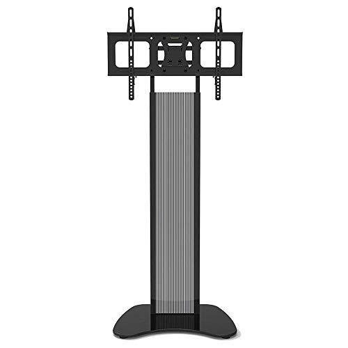 Estante para TV de Acero Inoxidable para televisores Planos curvos de 32 a 60 Pulgadas, Soporte de Esquina para Piso de TV Negro de hasta 68 kg de Altura inclinable Ajustable, VESA máximo 600x400 mm