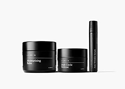 Age Management Collection for Men: 3 Piece Kit to Help with Clogged Pores, Dark Circles, Fine Lines, Wrinkles, Dryness, and Acne Scars - Achieve Your Best Look with Lumin from Lumin