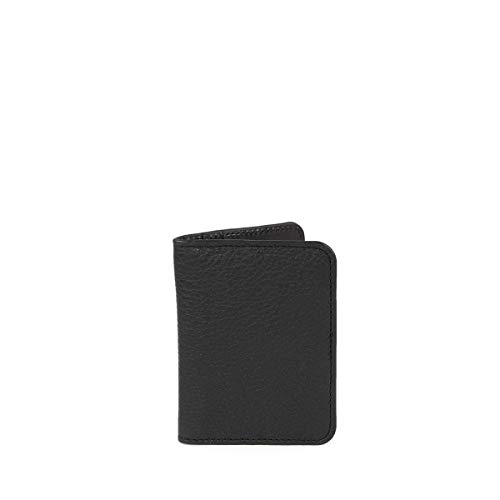 C-oui - Porta carte in pelle goffrata OUESSANT 39, colore: Nero