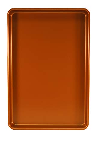 Chef Select Premium Non-Stick Cookie Sheet Pan, 15x10-Inches, Heavy Duty, Copper Color Steel