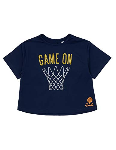 Beech Game On Girls Crop Top for Basketball, Multi-Sports and Sports Parties, Multiple Sizes (7-8 Years) Navy Blue