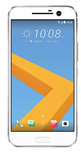 HTC 10 M10h 32GB ROM 4GB RAM 5.2-Inch 12MP 4G LTE Factory Unlocked International Stock No Warranty (GLACIER SILVER)