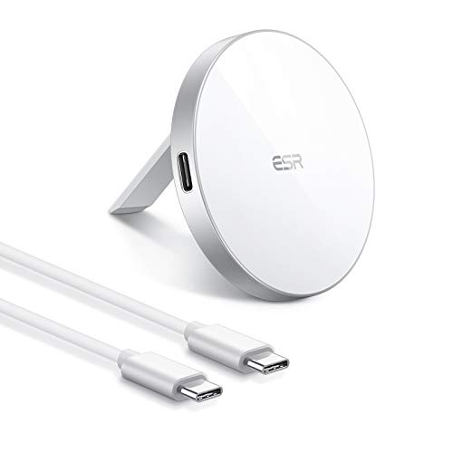 ESR HaloLock Cargador Inalámbrico Magnético, Almohadilla de Carga Rápida MagSafe-Compatible Solo para...