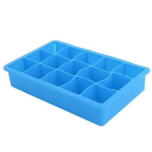 Shipenophy Mini-Cube sans BPA avec couvercles moules à glaçons Flexibles pour Accessoires de Bar à Domicile Cuisine Lavable au Lave-Vaisselle(Blue)