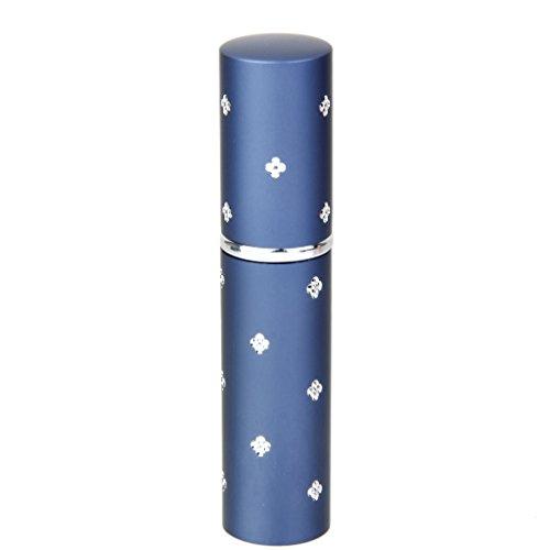 Mini Atomiseur de Parfum Vaporisateur Rechargeable Bouteille Vide en Alliage 6ml pour Voyage - Bleu