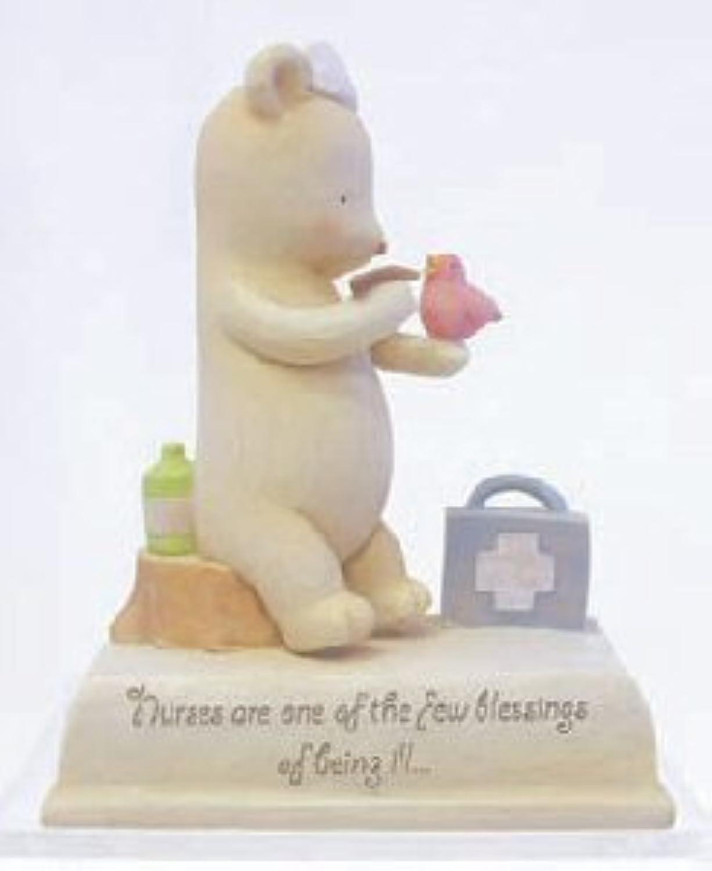 Heart String Teddies Nurse Teddy Bear Statue by Seagull Studios