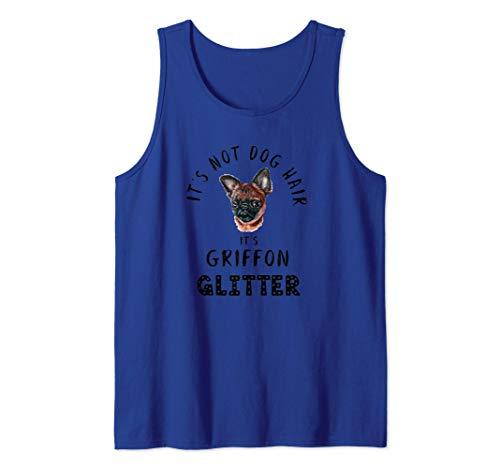 It's Not Dog Hair It's GRIFFON Glitter Perro Abeto Camiseta sin Mangas