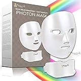 Project E Beauty 7 Colors LED Mask Face & Neck Photon Light Skin Rejuvenation Therapy Facial Skin Care Wireless Mask