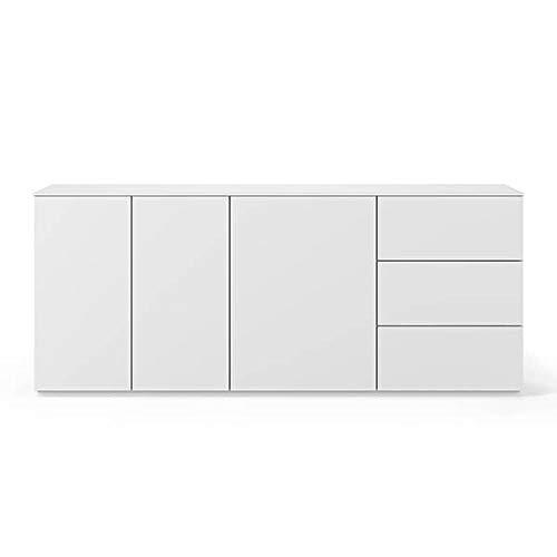Buffets Design et élégants, Collection Join, signée TEMAHOME. - Join 200H1, Base Classique, Blanc Mat