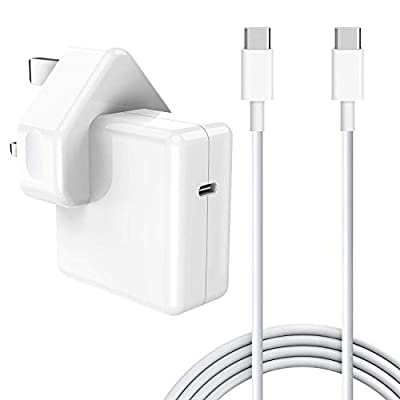 30W USB-C Power Adapter, Compatible with MacBook 2015Late 12-inch And Macbook Air Charger 2018Late Work with 30W & 29W USB C Notebook/Tablets with USB C and Type C Ports and 2M C-USB-C Charger cables