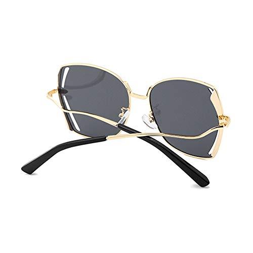 Faus Koco Polarisierte Sonnenbrillen-Box, hohl, Fahren, UV400 Schutz, Unisex, goldener Rahmen, schwarze Gläser
