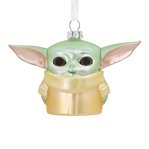 Hallmark Christmas Ornament, Star Wars: The Mandalorian The Child Blown Glass