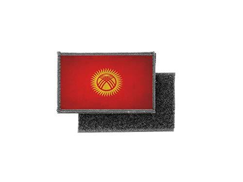 Aufnäher patch aufbügler vintage gedruckt flagge fahne kirgisistan