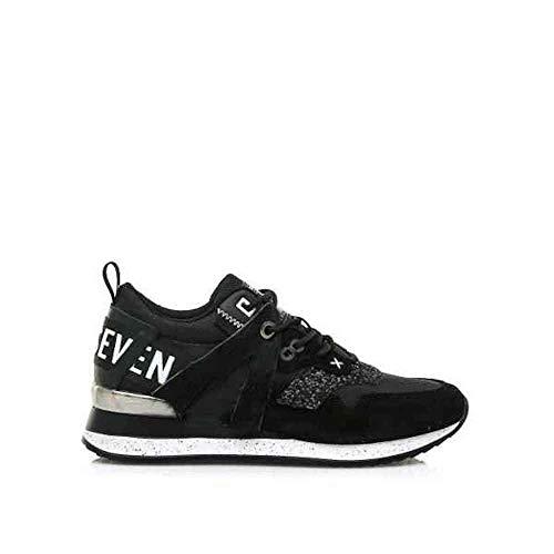 SIXTYSEVEN - Sneakers Leonel Piezas Y Letras ATRAS (36 EU, Negro)