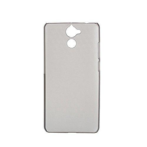 Ycloud Tasche für Blackview P2 Lite Hülle, Handy Backcover Kunststoff-Hard Shell Hülle Handyhülle mit stoßfeste Schutzhülle Smartphone Grau