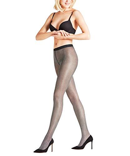 Falke Highshine damespanty, 1 stuks, verf. Kleuren: grijs, goud, maat S-L - Elegant glanzende panty met fijn Lurex-garen.