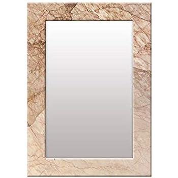 999Store Printed Brown Marvel Pattern Mirror
