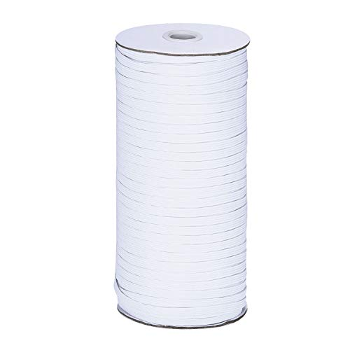 200 Yard Elastic Band, Shed Protector Sewing Elastic Band/Rope/Cord/String for Craft Making (White-3mm)