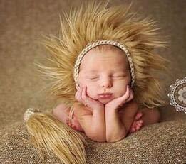 Chennie Bebé Recién Nacido Crochet Knit Hat Disfraz Fotografía Fotografía Prop Trajes Indio Cap