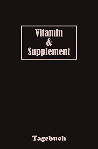 Vitamin & Supplement Tagebuch: Tracker zur Überwachung der Einnahme