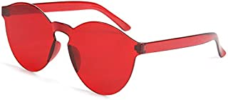linfei - Gafas De Sol Transparentes Sin Marco De Europa Y América. Gafas De Sol De Color Caramelo. Hombres Y Mujeres