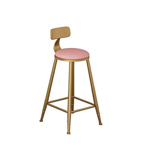 WYBW Taburetes de bar café, taburete de bar Taburete de desayuno Taburete de barra Taburete alto Taburete de bar Multicolor Blanco,Rosa,65cm