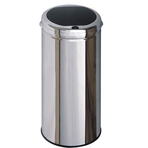 Kitchen Move - Cubo de basura automático (acero inoxidable con acabado en poliespejo), Acier INOX, 42 Litres Ø 30cm x H 74 cm