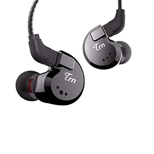 LRWEY Kopfhörer Wasserdichtes, Ohr-HIFI-8-Ring-Bügeleisen-Kopfhörer-Subwoofer mit Kabel, ohne Mikrofon, für iPhone, iPad, Samsung, Huawei, Xiaom und mehr
