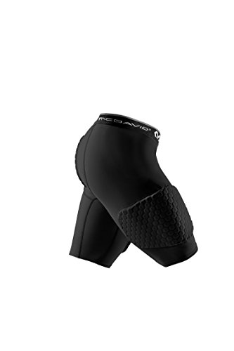 McDavid MD7993 Hex 3-Pad Basketball Shorts, Black, Adult: Large