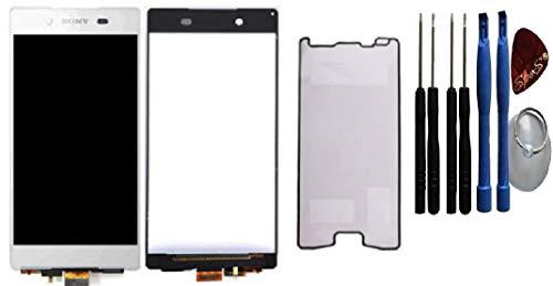 LCD Display für Sony Xperia Z3 Plus Z3+ Z4 E6553 Digitizer Touchscreen Glas Weiß/Klebefolie/Werkzeug