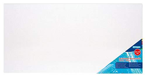 Stylex 28583 - Keilrahmen 30 x 60 cm, mit Leinwand aus 100 {74791c9c34c74d71983b3c32e72a26ab1eb2aeb15f30b6cdf0b2929c1f00baba} Baumwollgewebe bespannt, grundiert, rückseitig geheftet, für Öl-, Acryl- und Temperafarben, Gouache - Malerei