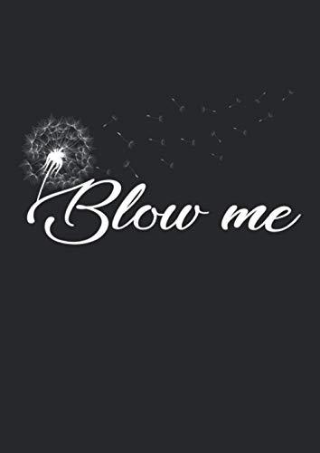 A4 Notizbuch kariert mit Softcover Design: Blow Me: Schönes Pusteblume Löwenzahn Sommer Blume Damen: 120 karierte DIN A4 Seiten