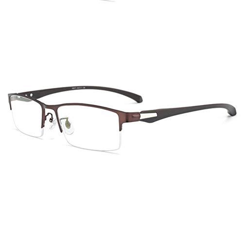 D&XQX blauw ondoorzichtige bril met TR90 Tempel Alloy montuurmateriaal anti-vermoeide ogen Headache functie geschikt voor mannen