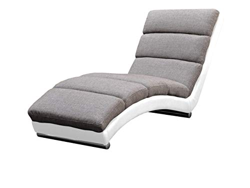 Mirjan24 Relaxliege Holiday Loungesessel Liegesessel Polstersessel Farbauswahl Relaxsessel Modern Wohnmöbel (Soft 017 + Lawa 05)
